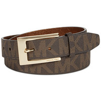MICHAEL Michael Kors Logo Belt with Plaque Buckle