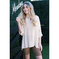 Nadia Lightweight Sweater, Oatmeal | Extended Sizes Available