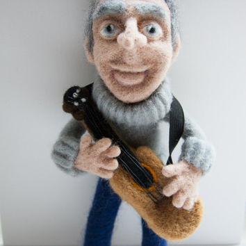 """Soft sculpture, portrait doll """"A man in a prime of life"""". Needle felted. 100%wool."""