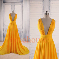 Dark Yellow Sexy Long Prom Dresses Formal Evening Dresses Fashion Party Dresses Homecoming Dresses Wedding Party Dresses Party Dress