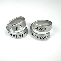 TO INFINITY and BEYOND- Best Friend Ring- Infinity Ring- Wrap Ring- Love Ring