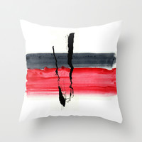 abstract 07 Throw Pillow by Ioana Luscov