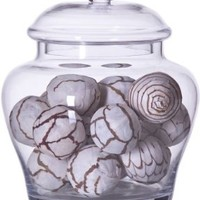 Elegant Clear Glass Apothecary Jar with Lid, 10-inch High Glass Canister