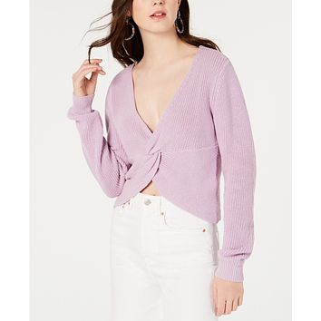 Material Girl Juniors' Twist-Front Cropped Sweater