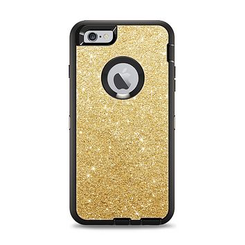 The Gold Glitter Ultra Metallic Apple iPhone 6 Plus Otterbox Defender Case Skin Set