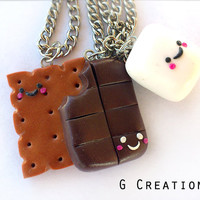 Smore Inspired Best Friends Necklace - Set of 3
