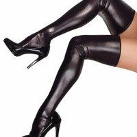 Halloween Stockings Sexy Skinny Smooth Stockings High Quality Stocking Mania Newly Slim Faux Leather Stockings
