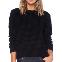 Marc by Marc Jacobs Walley Long Sleeve Sweater in Black
