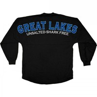 Great Lakes - Unsalted - Shark Free - Water Print - Classic Crew Neck Spirit Jersey®