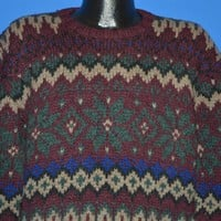 90s Polo Ralph Lauren Snowflake Wool Sweater Large