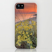 Magical red sunset at the sea iPhone & iPod Case by Guido Montañés