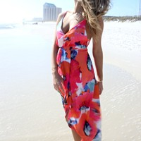 Island Dreamer Floral Tulip Dress