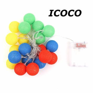 High Quality Creative 2.3 Meters 20 LEDs Cotton Balls String Lights Xmas Lovers Wedding Party Bedroom Decorations Fairy Lamp