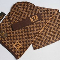 LV knitted hat & Scarf 006#