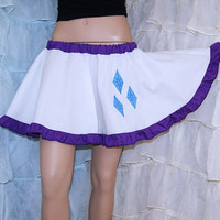 MLP Rarity Applique White Purple Circle Skirt Adult ALL Sizes - MTCoffinz