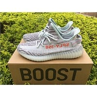 Kanye West x Adidas Yeezy 350 V2 Boost Blue Tint Sport Shoes Running Shoes B37571
