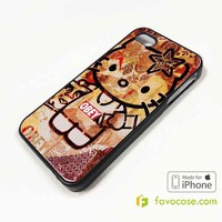 OBEY HELLO KITTY iPhone 4/4S 5/5S/SE 5C 6/6S 7 8 Plus X Case Cover