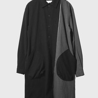 Professor. E - Pocket Long Shirt ( Black )