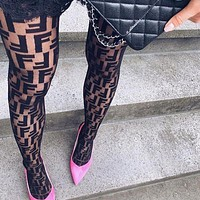 LV Louis Vuitton FENDI Balenciaga Sock Popular Ladies Sexy Women Louis Vuitton Sockings Long Socks Panty-Hose