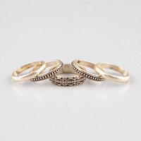 Full Tilt Piece Mixed Ring Set Gold  In Sizes