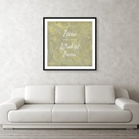 Dream Your Most Wonderful Dreams Silver And Gold Framed Print by Corbin Henry