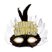 Fancy Feathered New Year's Mask
