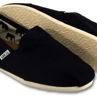 Toms Shoes Classic Slip On (Black) Shoes Womens Shoes at 7TWENTY Boardshop, Inc