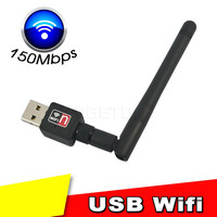Hot Sell USB wi-fi wi fi Wifi Router 150Mbps Wireless Usb Adapter 150M Computer LAN Card 802.11n g b Antenna For Desktop Laptop
