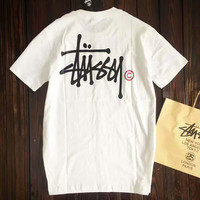 Stussy Print Casual Sport Short Sleeve Shirt Top Tee Blouse G-A-GHSY-1