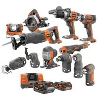 RIDGID, 18-Volt Lithium-Ion Ultimate Contractor Kit (12-Piece), R9670N at The Home Depot - Tablet