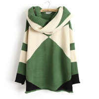 A 083019 Geometric spell color pullover jacket