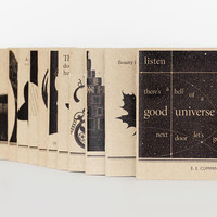 Notebook Set, Choose Any Three, Brown Mini Journals, Writer Notebooks, Literary Gift, Book Lover E.R.