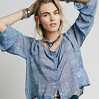 Free People Womens Simply Button Down