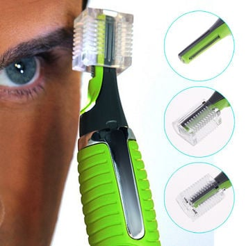 Stainless Steel Facial Hair Trimmer Removal Clipper - LED Focus Light - Unisex