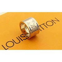 LV Louis Vuitton New fashion letter couple ring