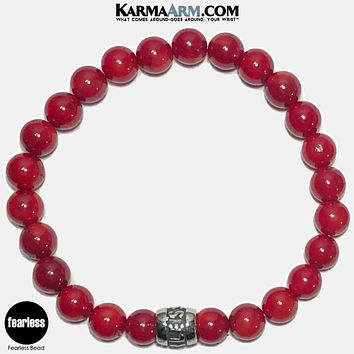 FEARLESS | Red Coral | Mantra Bracelet