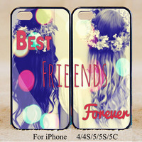 Best Friends Forever ,Double Case,iPhone 5s Case iPhone 5c case iPhone 5 case, iPhone 4 Cases iPhone 4s Cases,Galaxy S3,S4,S5,Couple Csae