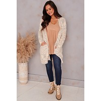 Whats Love Got To Do With It Longline Knit Cardigan (Cream/Multi)