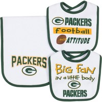 Green Bay Packers 3-Piece Bib & Burp Cloth Set - Baby (Pkr Team)