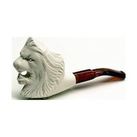 Meerschaum Pipes - Mini Hand Finished Lion (colors may vary)