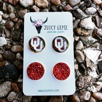 Game Day OU Leopard / Crimson Drusy Pack