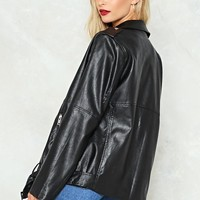 Eye of the Tiger Vegan Leather Moto Jacket