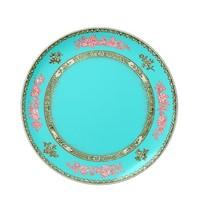 pretty blue china look plate pink and green trim from Zazzle.com