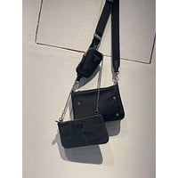prada women leather shoulder bags satchel tote crossbody satchel shouder bag 4