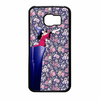 Mickey Mouse The Wizard Floral Vintage Samsung Galaxy S6 Case