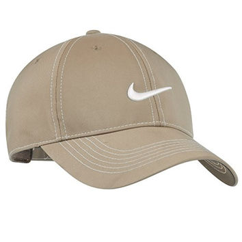 Nike Golf Classic Swoosh Front Cap Adjustable Back (Pine Nut)