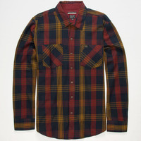 Rvca Warehouse Mens Flannel Shirt Navy  In Sizes
