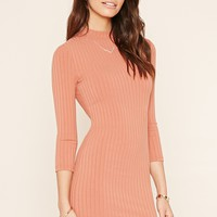 Mock Neck Knit Dress