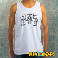 Daddy Mommy Chappie Clothing Tank Top For Mens