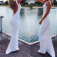 Backless Gown Dress